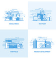 flat line designed concepts 4 vector image