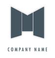 M grey logo vector image