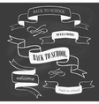 Set of back to school badges and ribbons on vector image