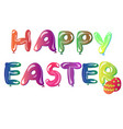 text featuring easter greetings vector image