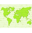 Eco background with map vector image vector image