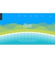 Summer beach landscape background banner template vector image