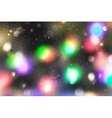 christmas blurred background vector image vector image