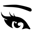 black woman eye vector image vector image