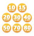 Discount Stickers vector image vector image