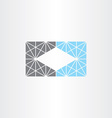 unusual geometric business card frame background vector image
