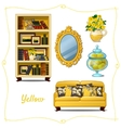 Furniture in classical style five objects vector image