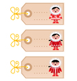 christmas blank tags vector image vector image
