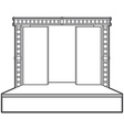 outline stage with scenes back metal truss vector image
