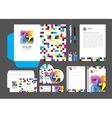 cmyk Corporate Identity template design abstract vector image