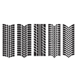 image of car tyre prints vector image