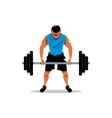 Weightlifting Cartoon vector image
