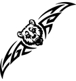Bear and symmetric tribals - vector image vector image
