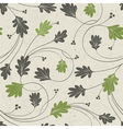 Oak leaves seamless vector image