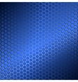 Background with metal grid of hexagons vector image