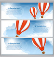 banners with balloons vector image