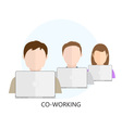 Co-working Icon vector image
