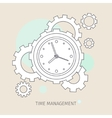 Concept of effective time management vector image