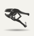 monochrome pipe cutter sign vector image