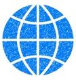 Planet Globe Grainy Texture Icon vector image