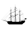 Sailing ship isolated on white background vector image