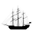Sailing ship isolated on white background vector image