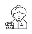 secretary line icon sign on vector image