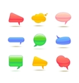 Set of Realistic Glass Speech Bubble vector image