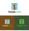 trunk logo and icon vector image