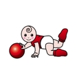 Baby gym toddler exercise vector image