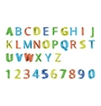 Colorful 3D font vector image vector image