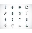 black light icons set vector image vector image