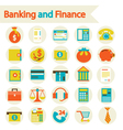 Banking and Finance set icons vector image vector image