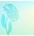 Background with single flower vector image