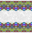 ethnic stripe ornament on floral background vector image vector image