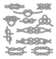 Set of rope knots vector image