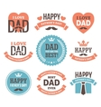 Fathers Day Labels and Signs vector image vector image
