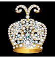 crown of gold and precious stones vector image