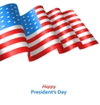 Patriotic Background with Flag USA Waving Wind for vector image