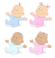babies boy and girl vector image vector image