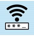 security password design vector image