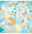 Abstract geometry blue background vector image