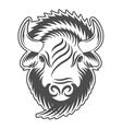Bison head Sign emblem logo vector image