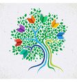 Education abstract concept tree book vector image
