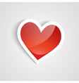 red heart on the white background vector image