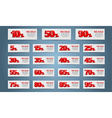 Set coupon banner vector image