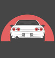 Sport japan car on red sun background vector image