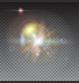 star burst with sparkles blurred light rays and vector image