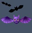 terrible purple vampire bat vector image