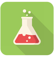 Test tube icon vector image